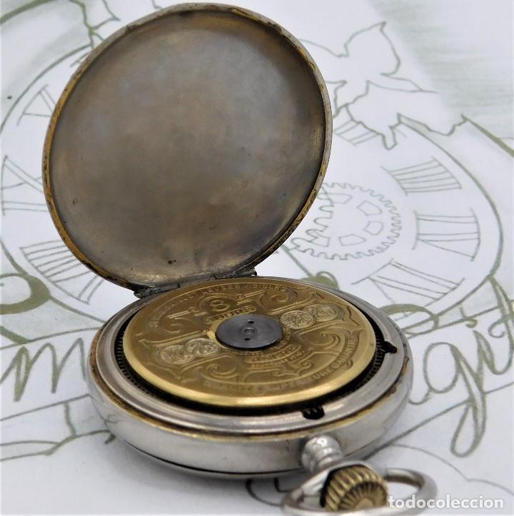 Relojes de bolsillo: HEBDOMAS-RELOJ DE BOLSILLO SABONETA 8 DÍAS-FUNCIONANDO - Foto 9 - 158723494