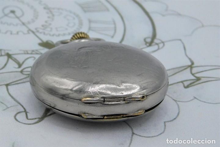 Relojes de bolsillo: HEBDOMAS-RELOJ DE BOLSILLO SABONETA 8 DÍAS-FUNCIONANDO - Foto 12 - 158723494
