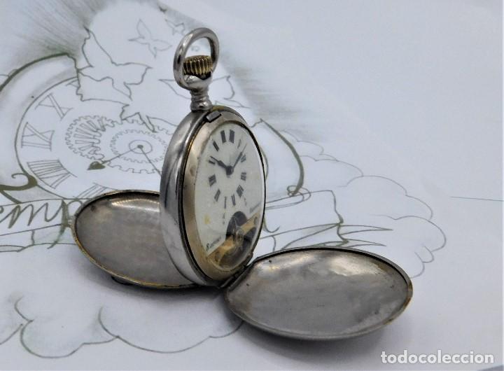 Relojes de bolsillo: HEBDOMAS-RELOJ DE BOLSILLO SABONETA 8 DÍAS-FUNCIONANDO - Foto 14 - 158723494