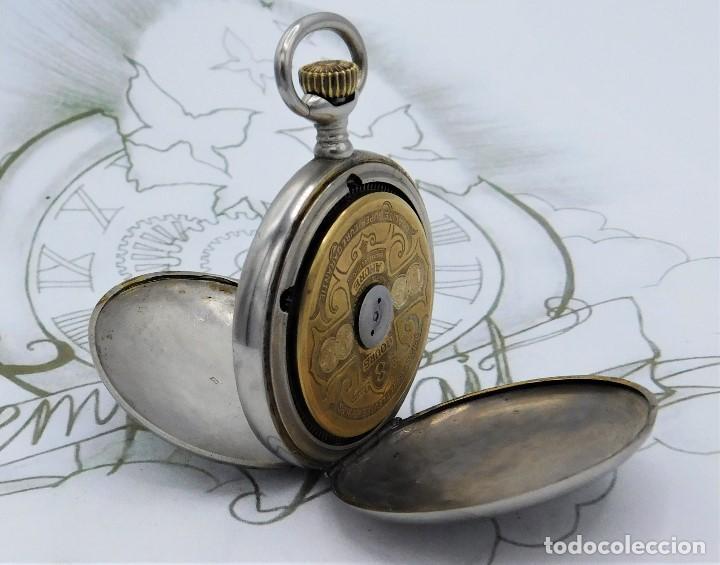 Relojes de bolsillo: HEBDOMAS-RELOJ DE BOLSILLO SABONETA 8 DÍAS-FUNCIONANDO - Foto 13 - 158723494