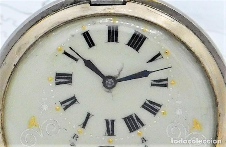 Relojes de bolsillo: HEBDOMAS-RELOJ DE BOLSILLO SABONETA 8 DÍAS-FUNCIONANDO - Foto 10 - 158723494