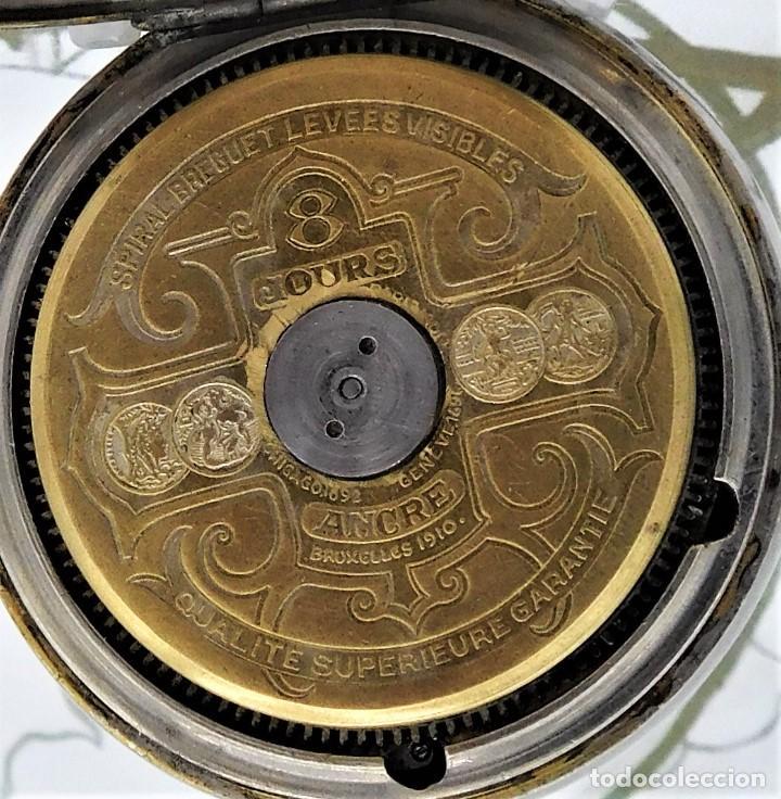 Relojes de bolsillo: HEBDOMAS-RELOJ DE BOLSILLO SABONETA 8 DÍAS-FUNCIONANDO - Foto 2 - 158723494