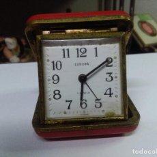 Relojes de bolsillo: RELOJ DE VIAJE VINTAGE EUROPA 2 JEWELS MEDIDAS 7,5X7,5 CM.. Lote 158943738