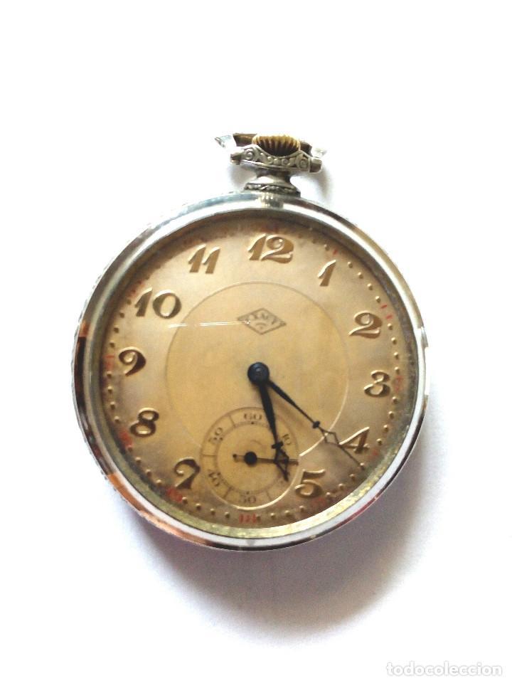 RELOJ BOLSILLO FUNCIONANDO DE 1920 (Relojes - Bolsillo Carga Manual)