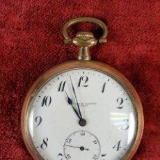 Relojes de bolsillo: RELOJ DE BOLSILLO. CHAPADO EN ORO. CARGA MANUAL. CRONOMETRO MODERNO QUILLET. PRINC. S. XX.. Lote 159190886