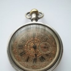 Relojes de bolsillo: RELOJ BOLSILLO PERRENOUD & C° LOCLE EN PLATA. NO FUNCIONA.. Lote 159210949