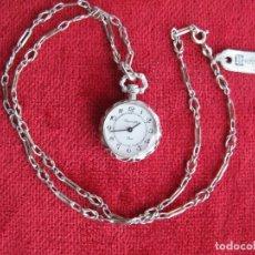 Relojes de bolsillo: PRECIOSO RELOJ DE BOLSILLO THERMIDOR DE CUERDA DE PLATA - FUNCIONANDO -. Lote 159263770