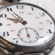 Relojes de bolsillo: RELOJ DE BOLSILLO DE PLATA. Lote 159374230