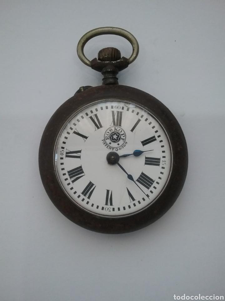 RELOJ BOLSILLO ROSKOPF PATENT 6269. FUNCIONA. (Relojes - Bolsillo Carga Manual)