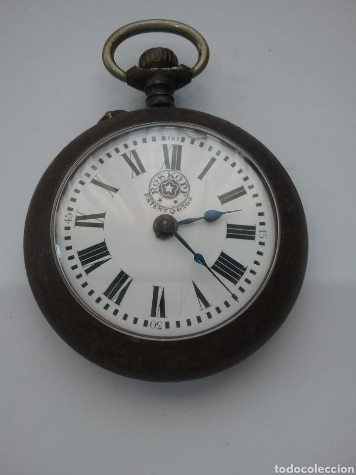 Relojes de bolsillo: Reloj bolsillo Roskopf Patent 6269. Funciona. - Foto 5 - 159501389