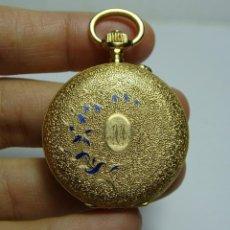 Relojes de bolsillo: RELOJ DE BOLSILLO O SABONETA. C.1880. ORO MACIZO DE 18 K. MARCA H. THIEBAUD FLEURIER. 3 TAPAS.. Lote 159505838