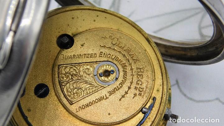 Relojes de bolsillo: H.SAMUEL- RELOJ DE BOLSILLO-DE PLATA-CAJA ORIGINAL-CIRCA 1895-FUSEE-FUNCIONANDO - Foto 12 - 159784602