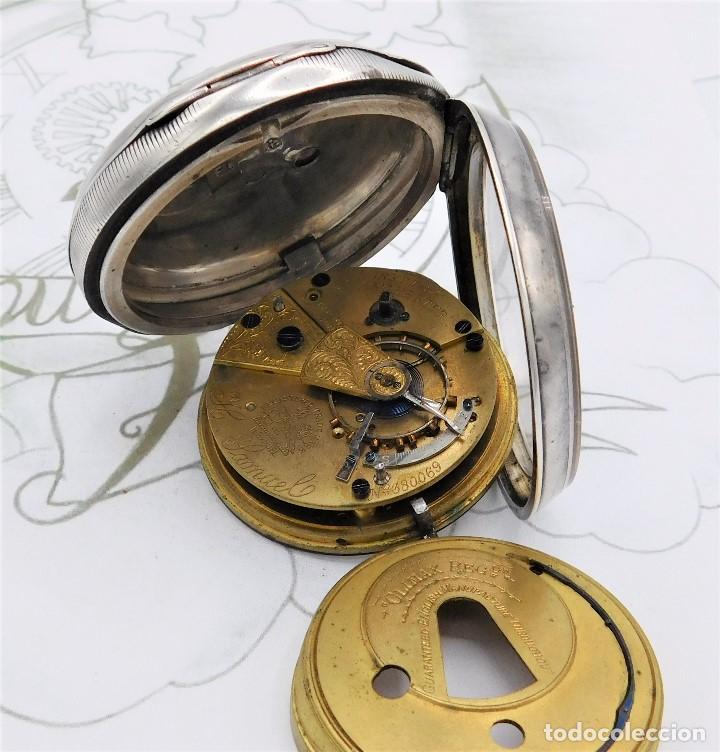 Relojes de bolsillo: H.SAMUEL- RELOJ DE BOLSILLO-DE PLATA-CAJA ORIGINAL-CIRCA 1895-FUSEE-FUNCIONANDO - Foto 13 - 159784602