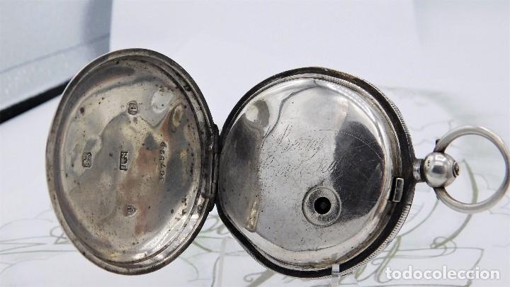 Relojes de bolsillo: H.SAMUEL- RELOJ DE BOLSILLO-DE PLATA-CAJA ORIGINAL-CIRCA 1895-FUSEE-FUNCIONANDO - Foto 17 - 159784602