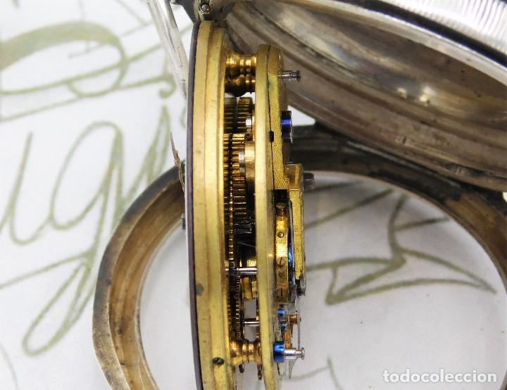 Relojes de bolsillo: H.SAMUEL- RELOJ DE BOLSILLO-DE PLATA-CAJA ORIGINAL-CIRCA 1895-FUSEE-FUNCIONANDO - Foto 23 - 159784602
