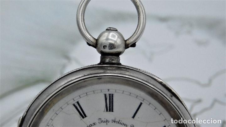 Relojes de bolsillo: H.SAMUEL- RELOJ DE BOLSILLO-DE PLATA-CAJA ORIGINAL-CIRCA 1895-FUSEE-FUNCIONANDO - Foto 25 - 159784602