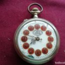 Relojes de bolsillo: RELOJ SUIZO RAILWAY REGULATOR. FERROCARRIL. EN FUNCIONAMIENTO. ESFERA ESMALTADA. Lote 159791834