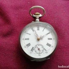 Relojes de bolsillo: EXCELENTE RELOJ DE PLATA LABRADA. EN FUNCIONAMIENTO. Lote 159792914