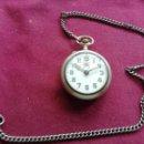 Relojes de bolsillo: RELOJ ROSKOPF CON CADENA. EN FUNCIONAMIENTO. Lote 159793214