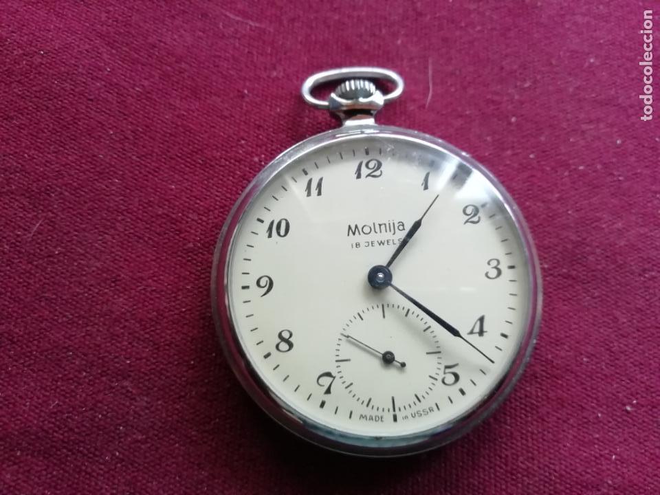 RELOJ RUSO MOLNIJA. EN FUNCIONAMIENTO (Relojes - Bolsillo Carga Manual)