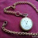 Relojes de bolsillo: RELOJ THE GUARDIAN. EN FUNCIONAMIENTO. MUY INTERESANTE CADENA DORADA. Lote 159793774