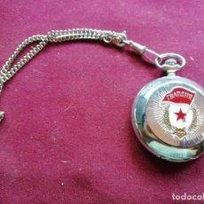 Relojes de bolsillo: RELOJ DE BOLSILLO RUSO MODERNO. MÁQUINA. CADENA. PERFECTO ESTADO. Lote 159794762