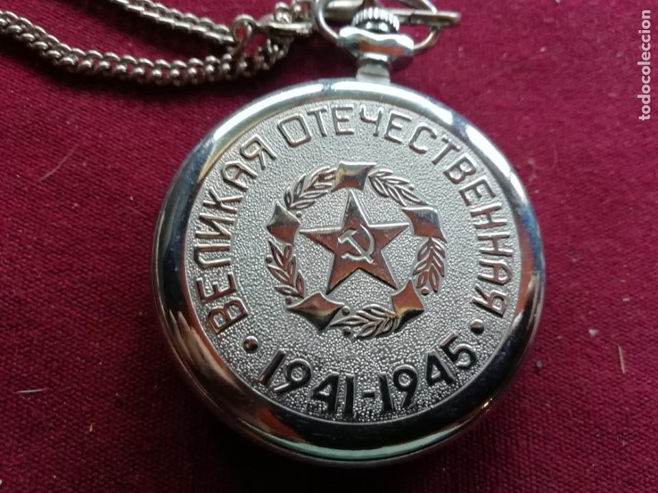 Relojes de bolsillo: Reloj de bolsillo ruso moderno. Máquina. Cadena. Perfecto estado - Foto 2 - 159794762