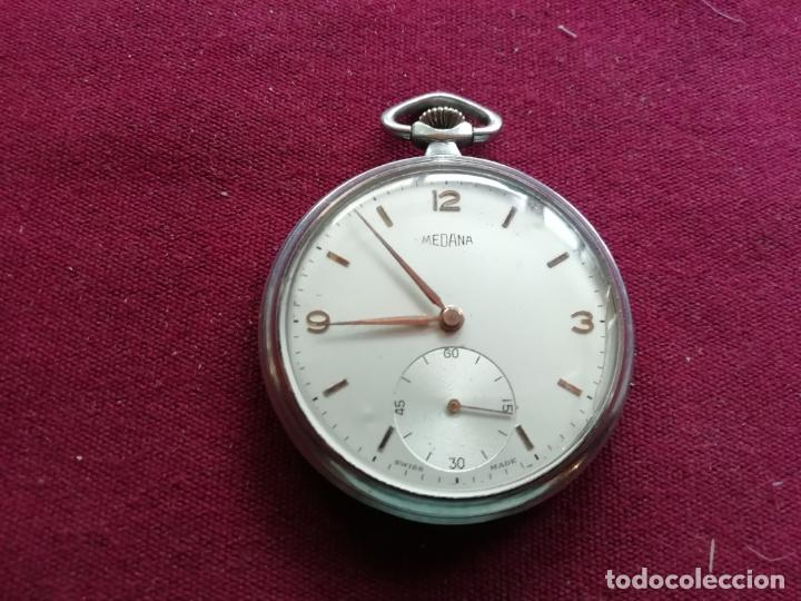 RELOJ SUIZO MEDANA. ANDA Y SE PARA (Relojes - Bolsillo Carga Manual)