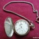Relojes de bolsillo: RELOJ SUIZO ACTUAL KRONOS. CUERDA. CADENA. 2 TAPAS. PERFECTO FUNCIONAMIENTO. Lote 159795510
