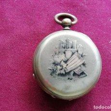 Relojes de bolsillo: RELOJ DE BOLSILLO DE PLATA A LLAVES. NO FUNCIONA. Lote 159796582