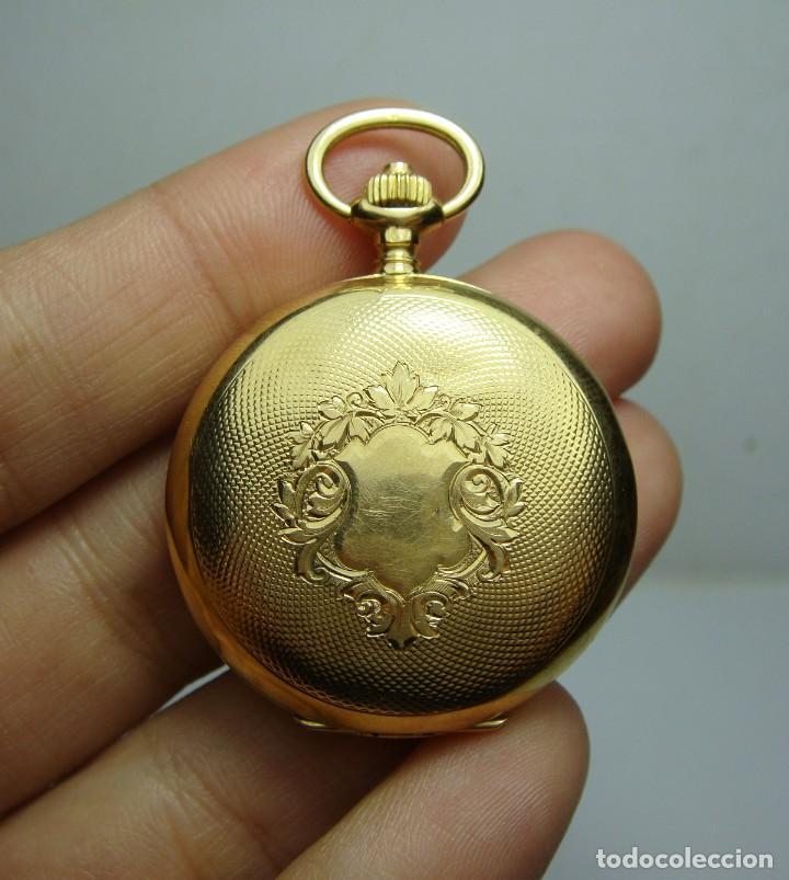 RELOJ DE BOLSILLO O SABONETA. C.1900 ORO MACIZO DE 18 K. MARCA LONGINES. 3 TAPAS. (Relojes - Bolsillo Carga Manual)