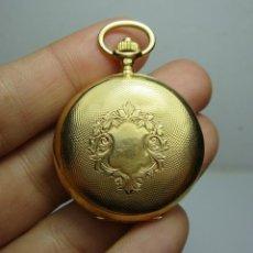 Relojes de bolsillo: RELOJ DE BOLSILLO O SABONETA. C.1900 ORO MACIZO DE 18 K. MARCA LONGINES. 3 TAPAS.. Lote 159966566