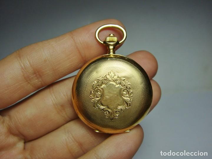 Relojes de bolsillo: Reloj de Bolsillo o Saboneta. C.1900 Oro macizo de 18 k. Marca LONGINES. 3 Tapas. - Foto 2 - 159966566