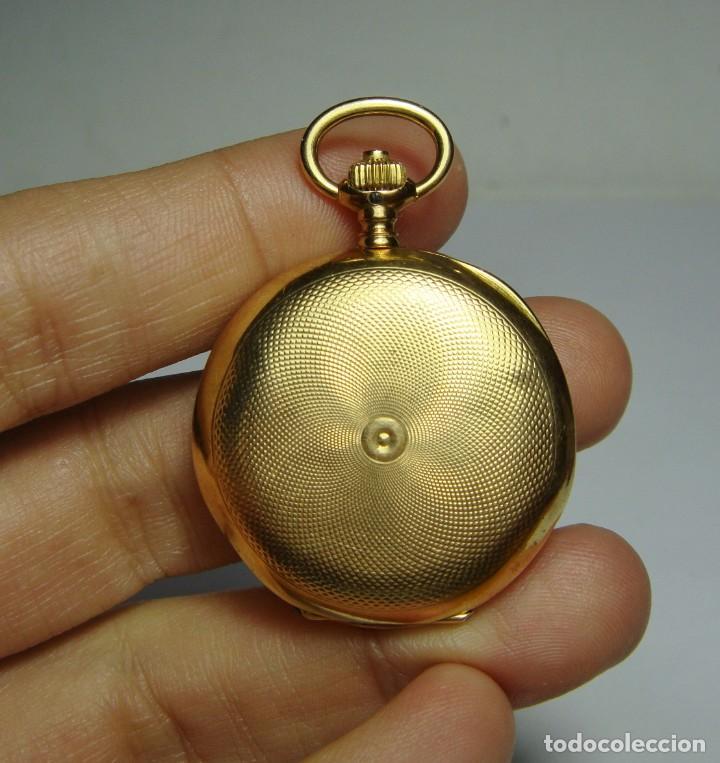 Relojes de bolsillo: Reloj de Bolsillo o Saboneta. C.1900 Oro macizo de 18 k. Marca LONGINES. 3 Tapas. - Foto 3 - 159966566
