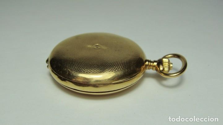 Relojes de bolsillo: Reloj de Bolsillo o Saboneta. C.1900 Oro macizo de 18 k. Marca LONGINES. 3 Tapas. - Foto 5 - 159966566