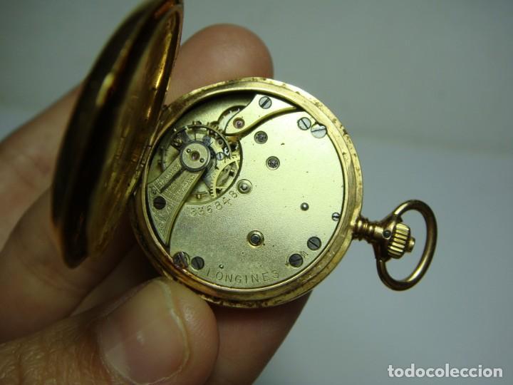 Relojes de bolsillo: Reloj de Bolsillo o Saboneta. C.1900 Oro macizo de 18 k. Marca LONGINES. 3 Tapas. - Foto 11 - 159966566