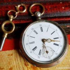 Relojes de bolsillo: RELOJ DE BOLSILLO DE PLATA C1900. Lote 159995102