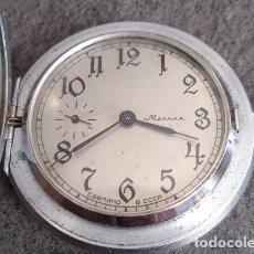 Relojes de bolsillo: ANTIGUO RELOJ DE BOLSILLO DE LA MARCA MOLNIJA CON TAPA EN RELIEVE RUSIA AÑOS 60 18 RUBIES. Lote 160241985