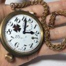 Relojes de bolsillo: ENORME RELOJ SUIZO HECHO PARA KRIEGSMARINE II G.M. EN MARCHA . Lote 160350354