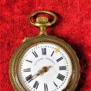 Relojes de bolsillo: RELOJ ROSKOPF. DE BOLSILLO. BRONCE.METAL. CRISTAL. SUIZA. FIN XIX. Lote 160352658