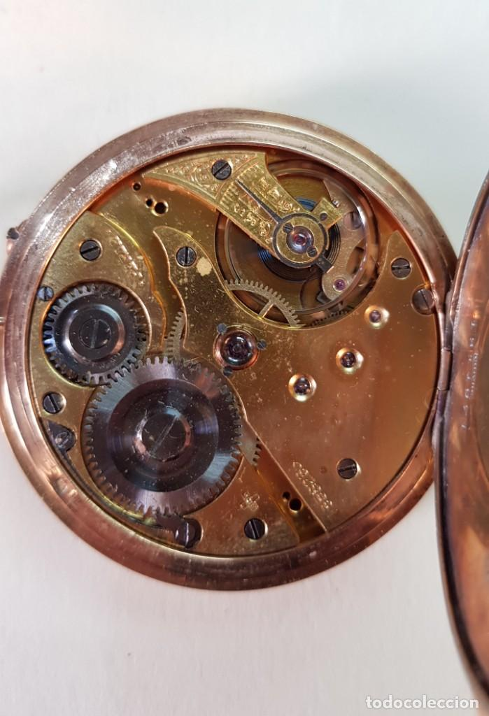 Relojes de bolsillo: Reloj oro 18 quilates, tres tapas. Marca Perla. - Foto 4 - 160623206