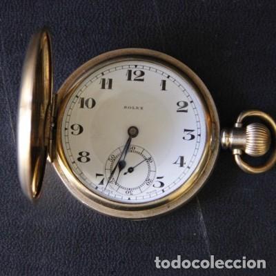 ROLEX DE PRINCIPIOS DEL SIGLO XX CHAPADO EN ORO. (Relojes - Bolsillo Carga Manual)