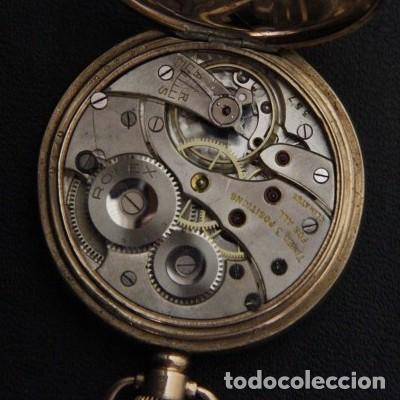 Relojes de bolsillo: ROLEX DE PRINCIPIOS DEL SIGLO XX CHAPADO EN ORO. - Foto 4 - 160627050