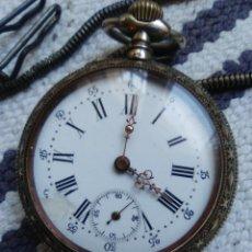 Relojes de bolsillo: RELOJ DE BOLSILLO MUY ANTIGUO, MÁQUINA TIPO CILINDRO, CON UÑERO. Lote 160669358