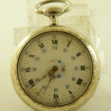 Relojes de bolsillo: RELOJ BOLSILLO ARGENTAN ANDA Y PARA BONITA CAJA. Lote 160732834