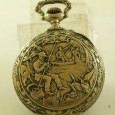 Relojes de bolsillo: RELOJ BOLSILLO CAJA LABRADA PRECIOSA LOUIS BOLSON 52.83MM. Lote 160733150