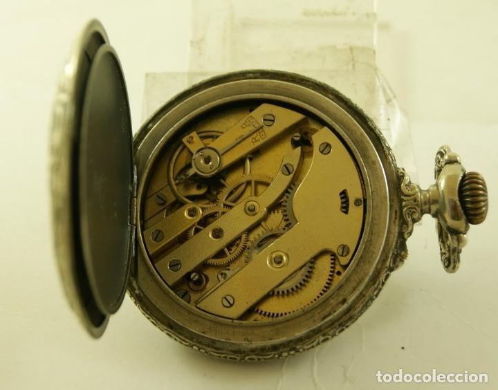 Relojes de bolsillo: RELOJ BOLSILLO CAJA LABRADA PRECIOSA LOUIS BOLSON 52.83MM - Foto 4 - 160733150