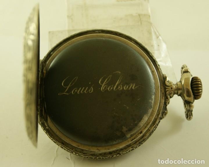 Relojes de bolsillo: RELOJ BOLSILLO CAJA LABRADA PRECIOSA LOUIS BOLSON 52.83MM - Foto 6 - 160733150