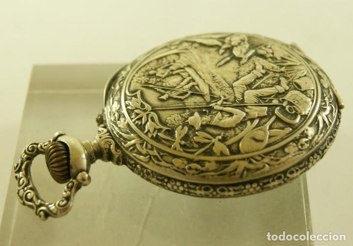 Relojes de bolsillo: RELOJ BOLSILLO CAJA LABRADA PRECIOSA LOUIS BOLSON 52.83MM - Foto 7 - 160733150