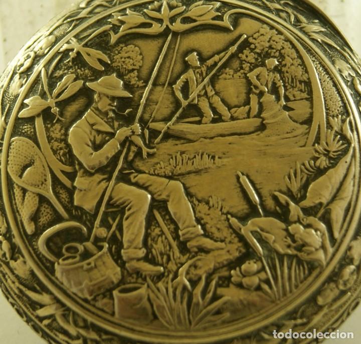 Relojes de bolsillo: RELOJ BOLSILLO CAJA LABRADA PRECIOSA LOUIS BOLSON 52.83MM - Foto 8 - 160733150